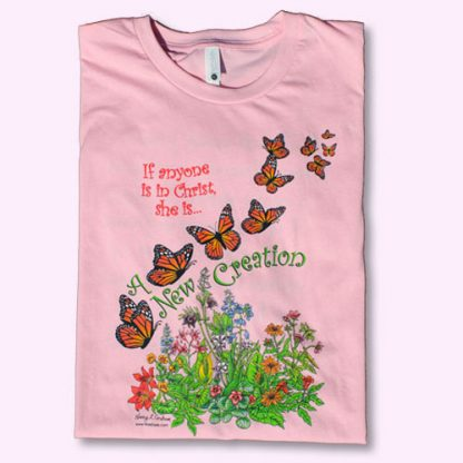 New Creation pink t-shirt - front