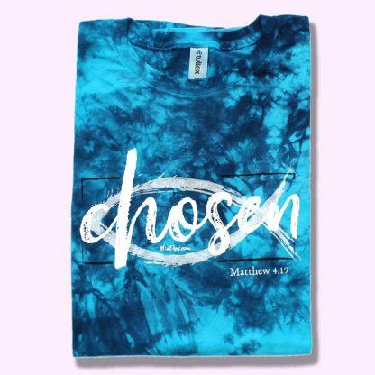 Chosen blue tie-dye t-shirt